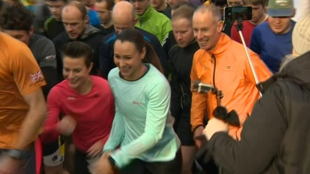 Ennis-Hill turns up to 5k park run