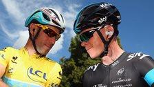 Vincenzo Nibali and Chris Froome