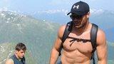 Jamie Roberts and team-mates hiking