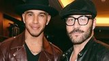 Lewis Hamilton and Jeremy Piven