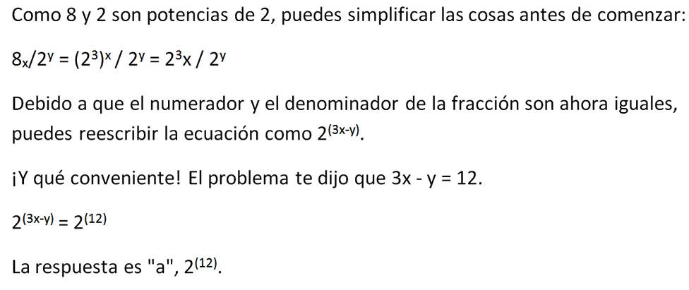 ecuación solución