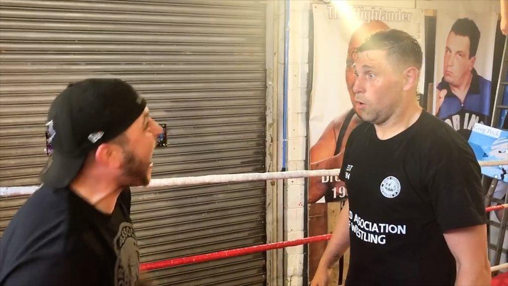 Ex-Norwich striker Holt takes up wrestling
