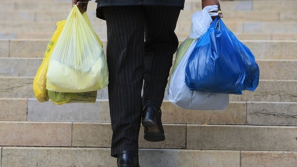 Plastic bag use plummets in England