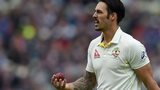 Mitchell Johnson prepares to bowl