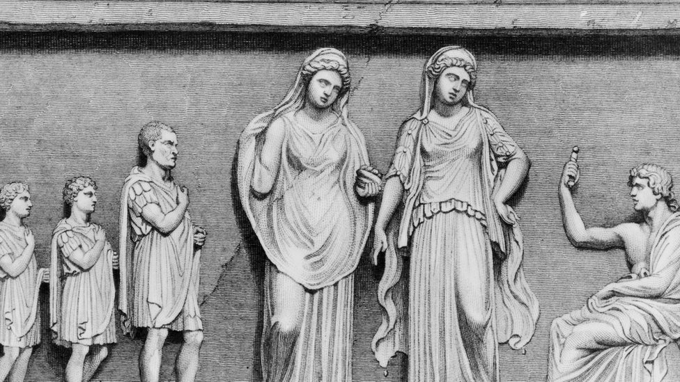 Depiction of the oracle at Delphi