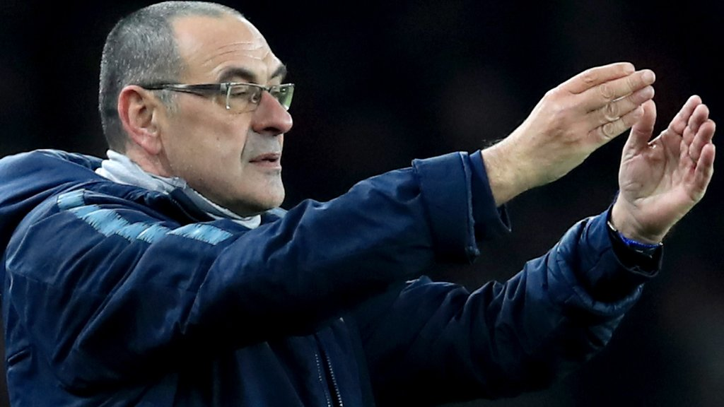 Arsenal 2-0 Chelsea: Maurizio Sarri says Blues players 'difficult to motivate'
