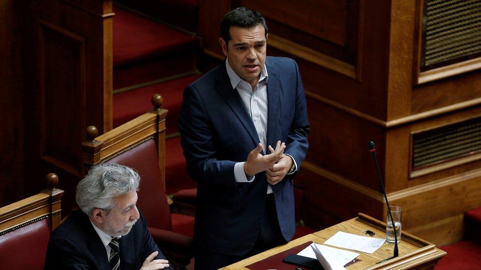 Прем'єр-міністр Алексіс Ціпрас закликав депутатів підтримати законопроект