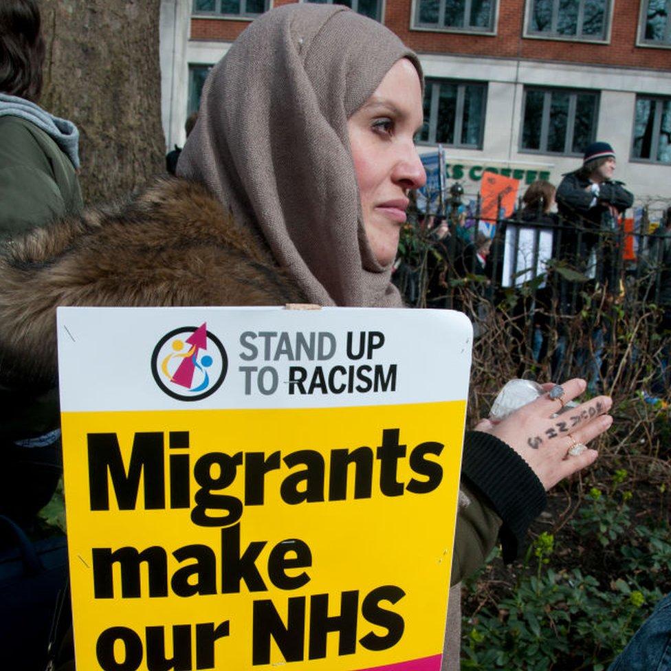 Protesta contra el control de la migración en Reino Unido