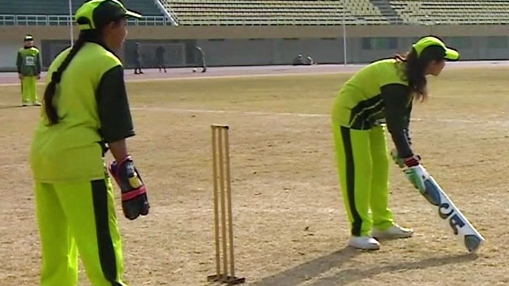 Pakistan's first female blind cricket team