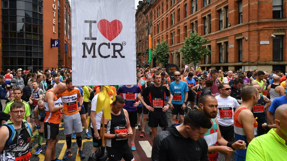 Great Manchester Run: Thousands take part amid heightened security