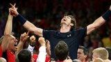 The GB team celebrates