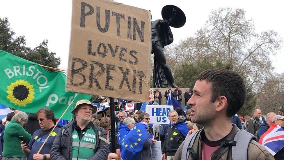 """""""Путин за """"брексит"""": Тысячи человек вышли на улицы Лондона и потребовали нового референдума"""