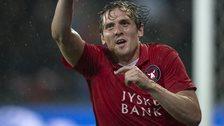 Morten Rasmussen celebrates
