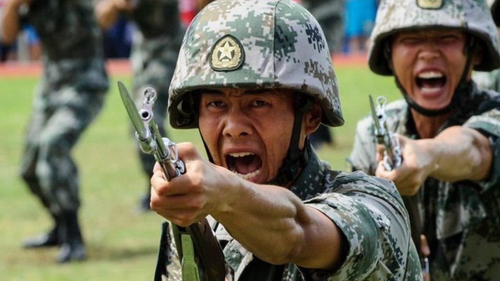 چین نے انڈین سرحد پر بھاری اسلحہ پہنچا دیا