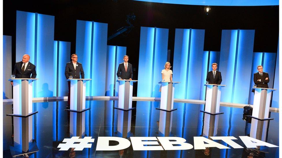Presidential hopefuls in a TV debate