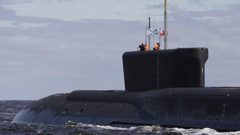 El submarino ruso Yuri Dolgoruky.