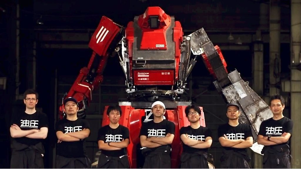 Giant robots clash in US-Japan battle