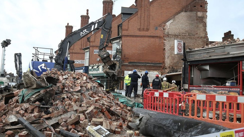 Leicester explosion: Boy's 'miracle' rescue from rubble