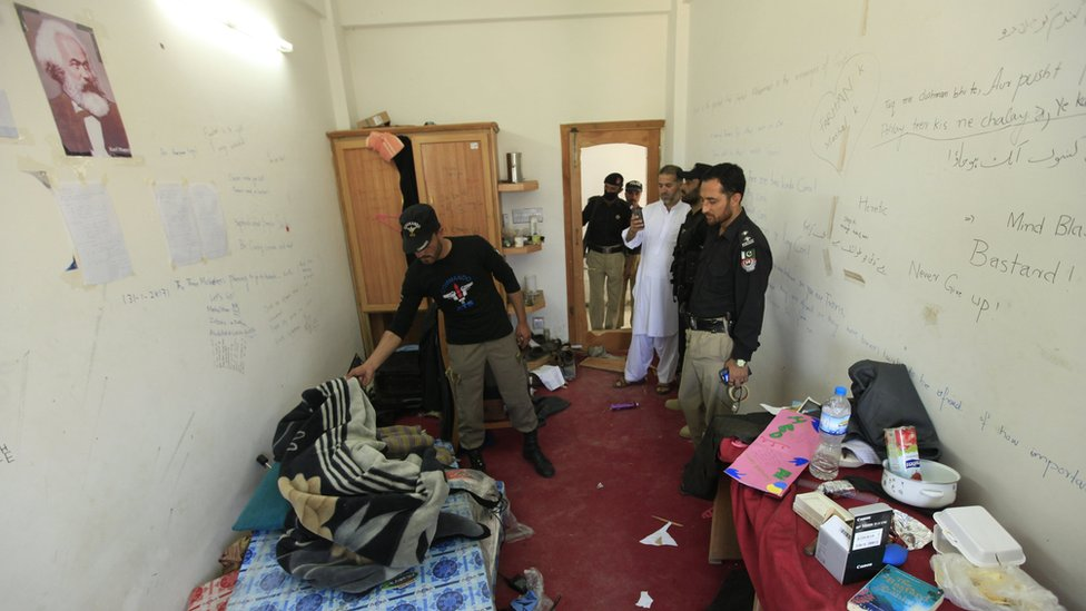 El dormitorio de Mashal Khan