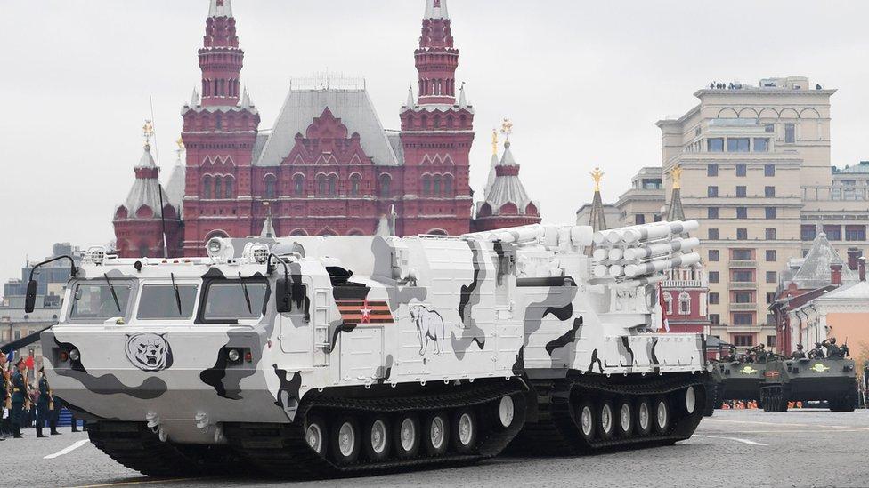 俄羅斯「二戰勝利日」大閱兵 首度公開北極武器裝備