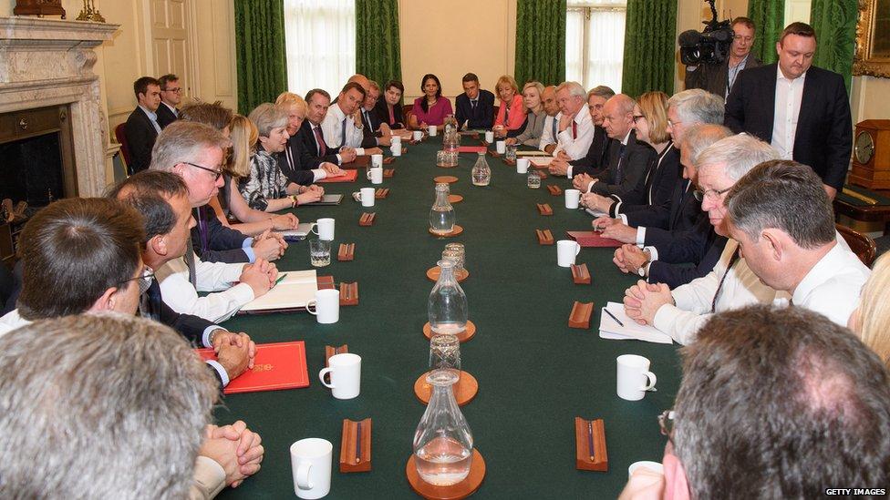 تيرزا ماي ترأس اجتماع مجلس الوزراء