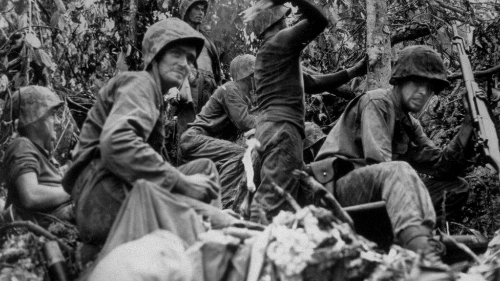 US marines on Palau