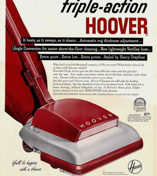 """La compañía que en el pasado había asegurado que """"Serás más feliz con una Hoover"""", hizo a muchos infelices."""