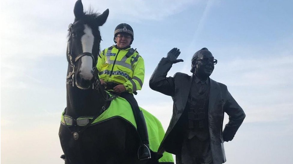 Police horse Morecambe dies at Blackpool football match