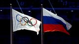 Olympic and Russia flag