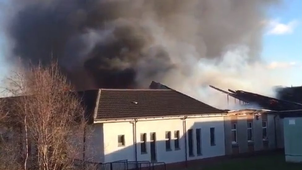 Primary school evacuated after fire breaks out