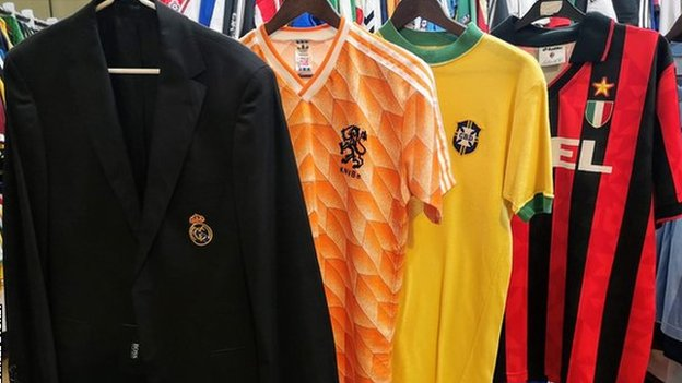Classic football shirts: The students-turned-entrepreneurs searching for rare kits