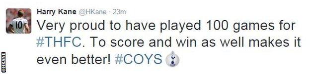 Harry Kane tweet