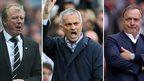 Steve McClaren, Jose Mourinho, Dick Advocaat