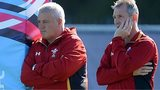 Wales coach Warren Gatland with assistant Rob Howley