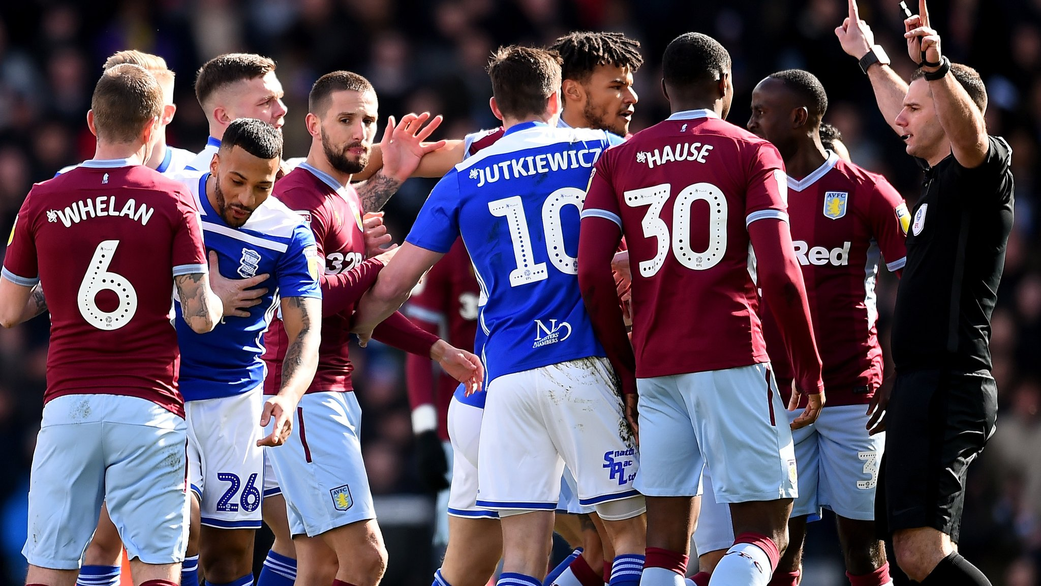Birmingham City & Aston Villa fined £5,000 for failing to control players in Second City derby