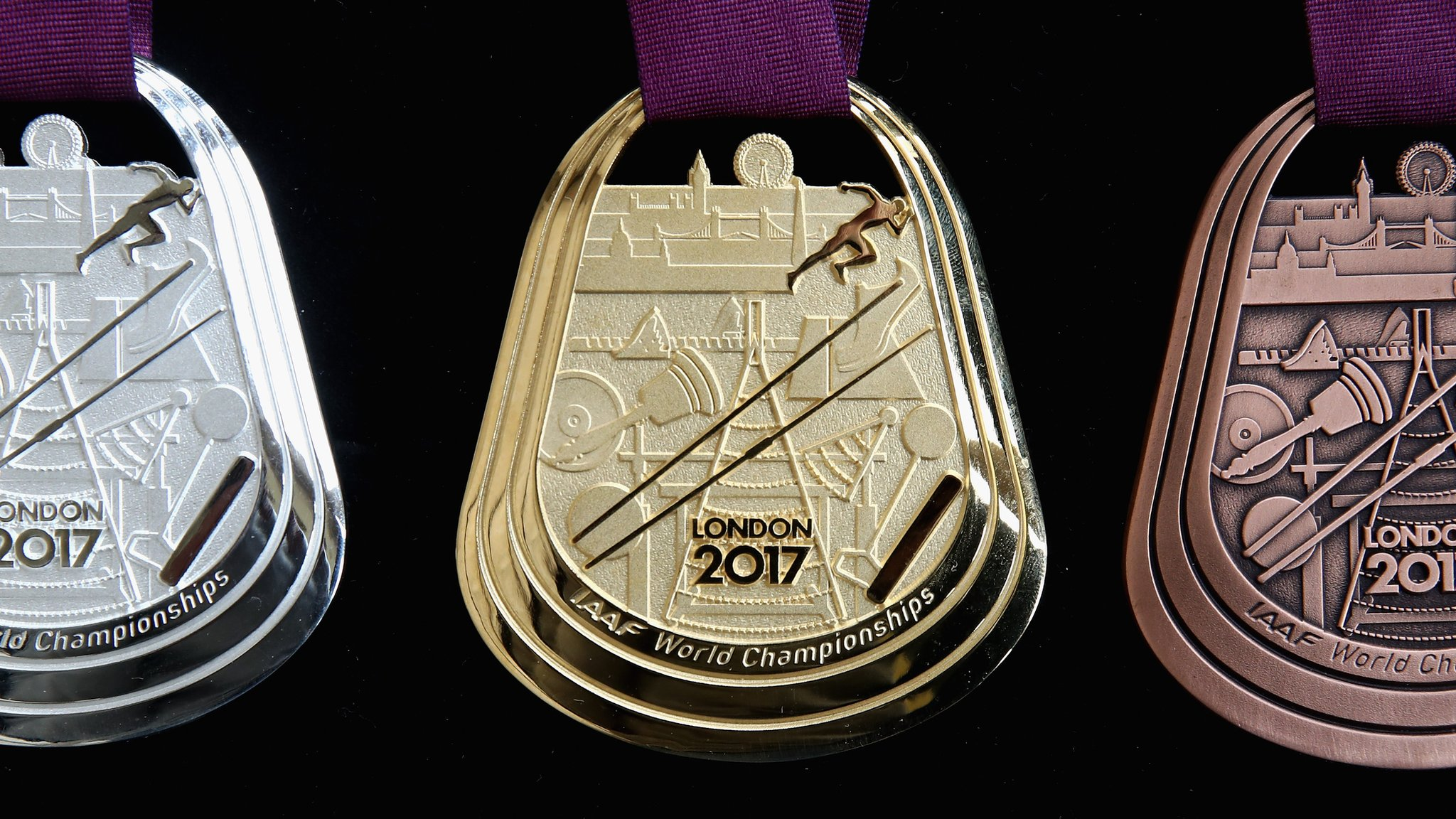 World Athletics Championships: London 2017 medals revealed