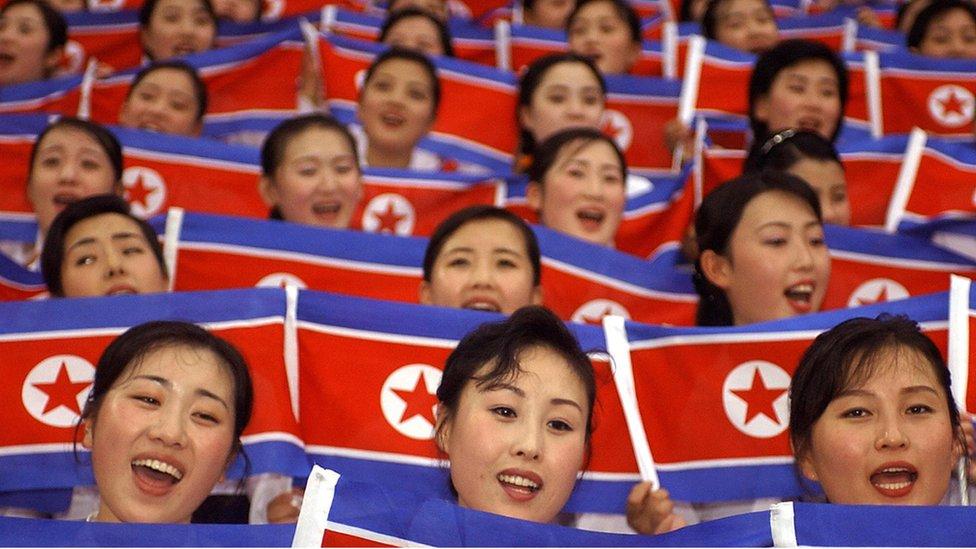 animadoras norcoreanas.