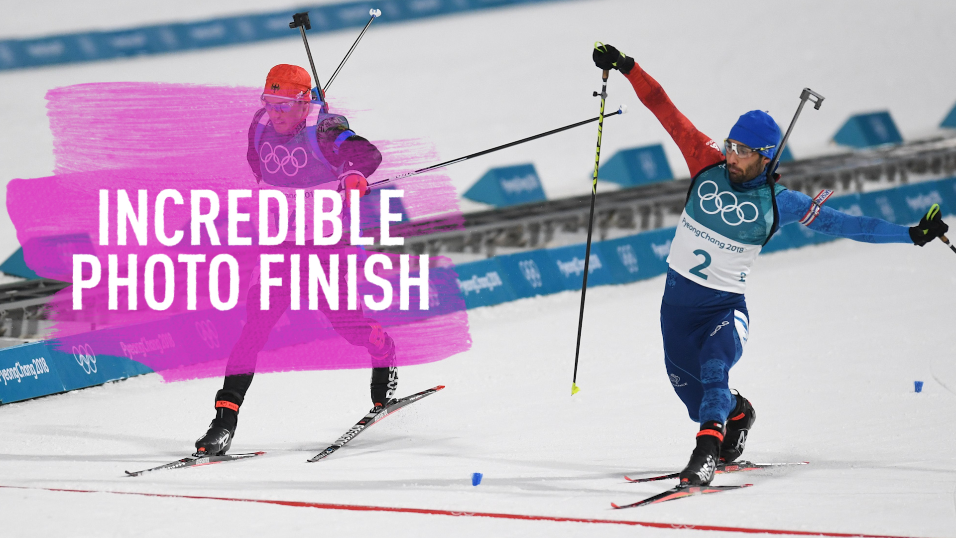 Winter Olympics: Biathlon produces 'One of the best finishes ever'