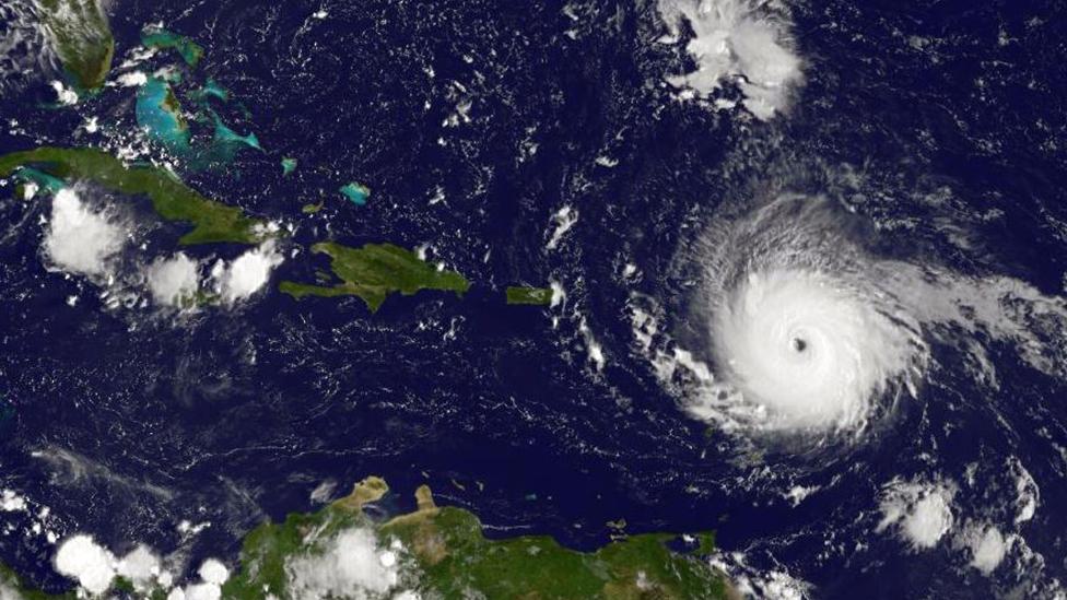 El huracán Irma captado en una imagen satelital del 2 de septiembre.