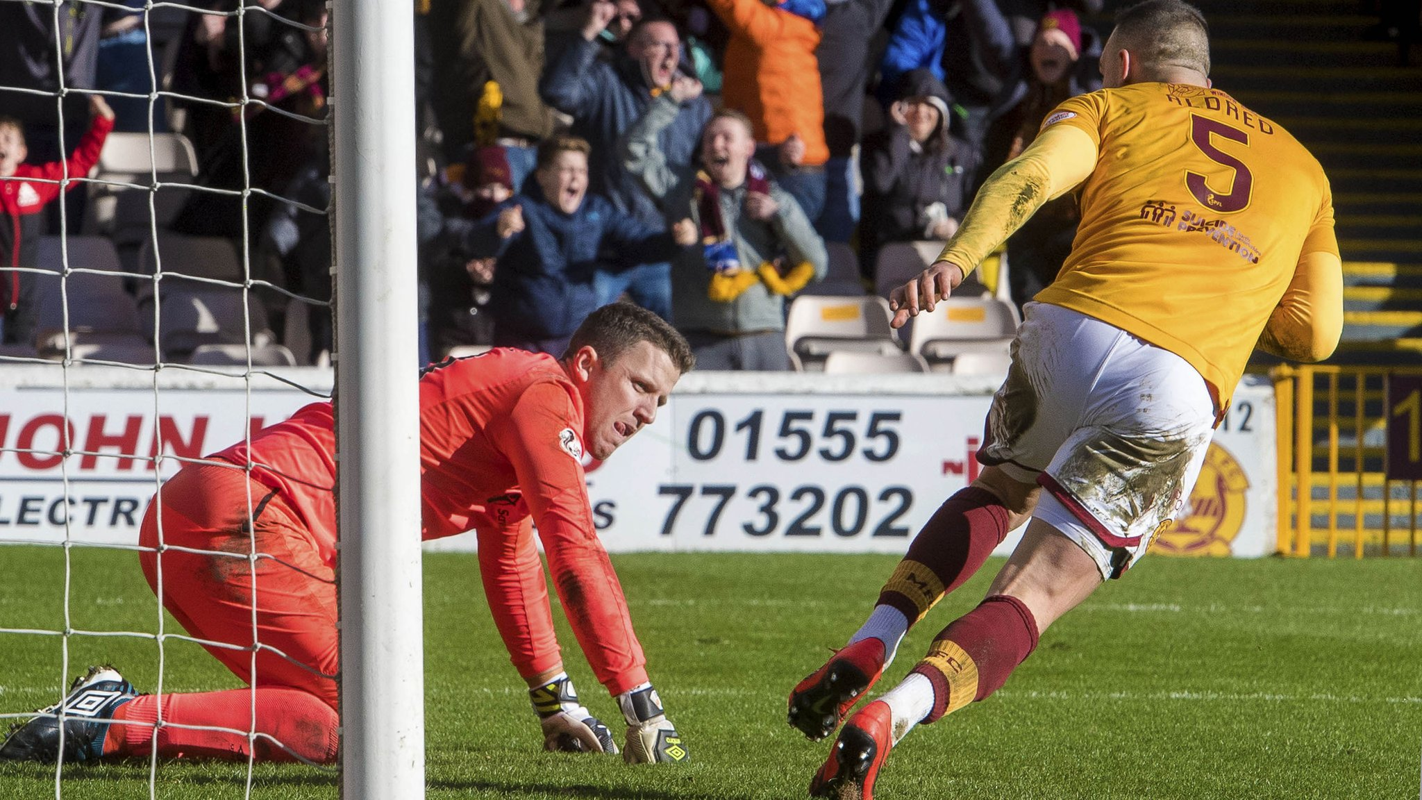 Hearts keeper Colin Doyle gifts Motherwell three points at Fir Park.