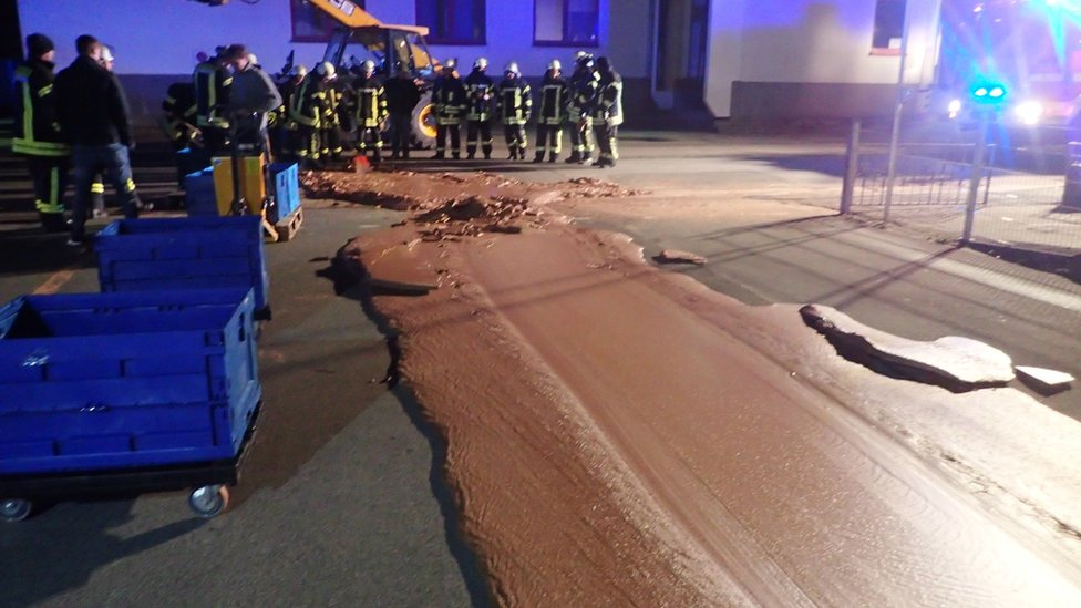 Chocolate meltdown closes German road