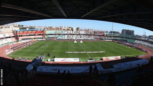 Catania's Stadio Angelo Massimino,