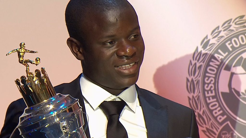 PFA Player of the Year: Chelsea's N'Golo Kante wins 2016-17 award