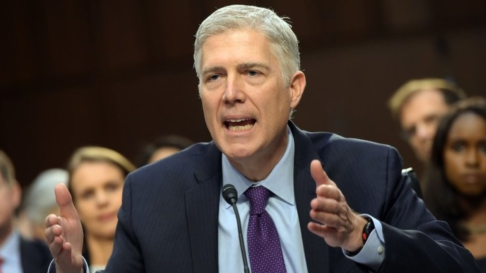 Supreme Court pick Gorsuch says Trump not above law