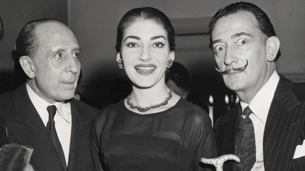 El marqués con María Callas y Salvador Dalí