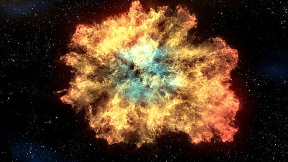 Explosión en el Universo