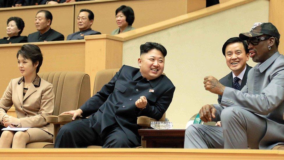 Rodman ha viajado en diversas ocasiones a Corea del Norte a invitación de su amigo, el líder norcoreano.