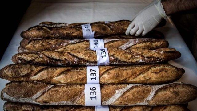 Estos baguettes forman parte de una competencia celebrada en abril en París.