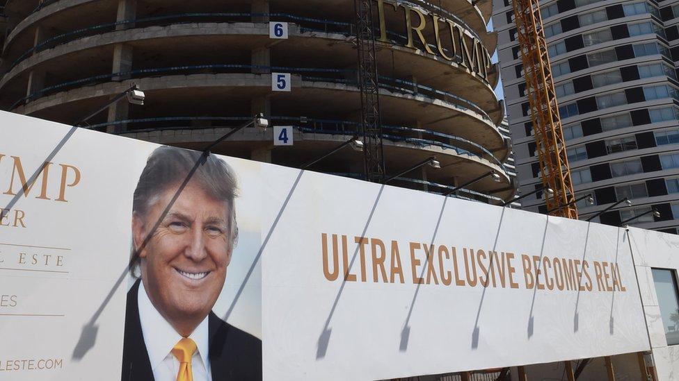 Cuando comenzó a ser construida la torre Trump en Punta del Este, Uruguay, tuvo la imagen del hoy presidente de EE.UU.