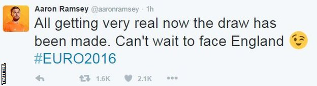 Arsenal and Wales midfielder Aaron Ramsey is looking forward to Euro 2016